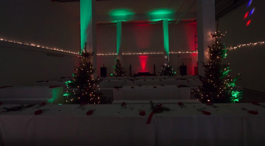 Weihnachtsfeier beleuchtung