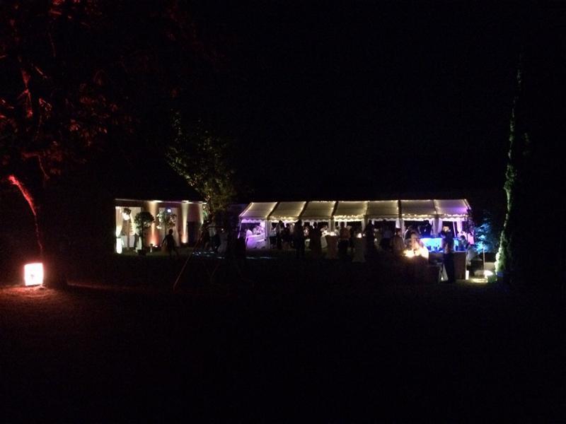 Hochzeit Nachtbeleuchtung